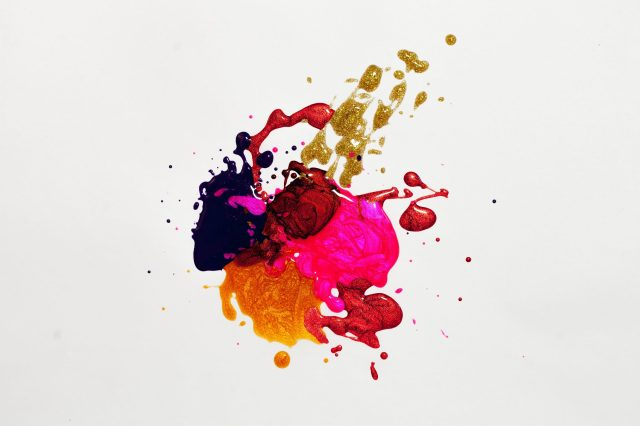 Snap of a splash color art
