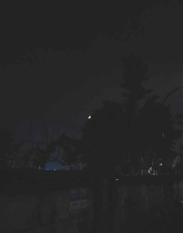 Dark hours of a day