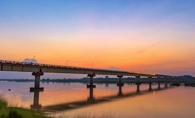Beautiful bridge crossing a river