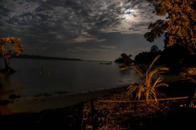 moon light at an island