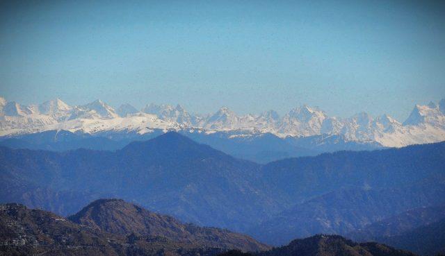 Dhauladhar mountain ranges of Dharamshala.