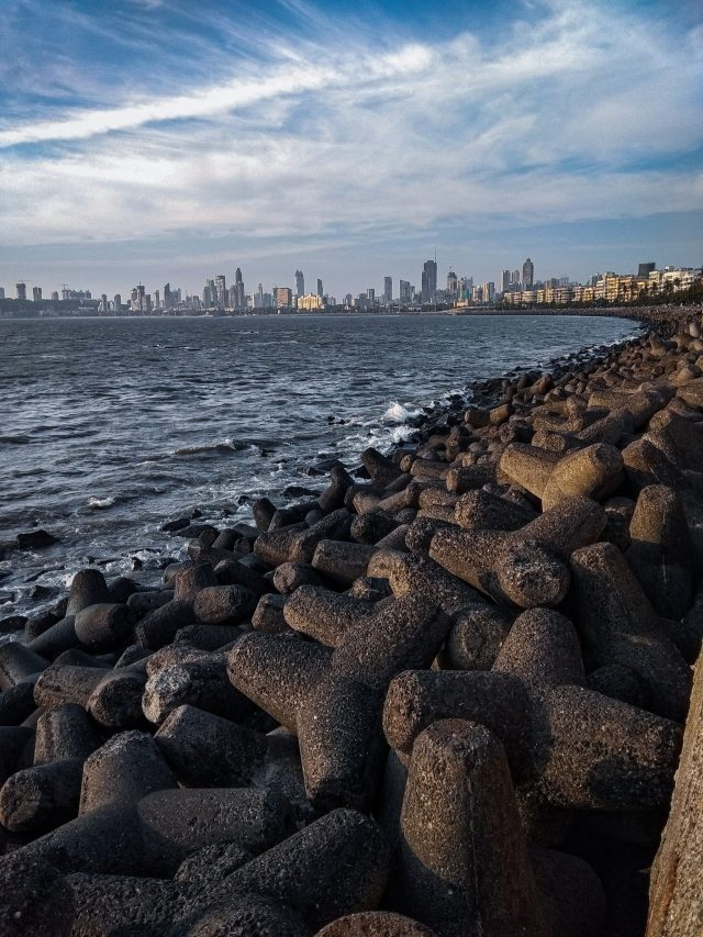 a view of marine drive in mumbai