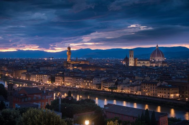 Scenery of Florence in Italy