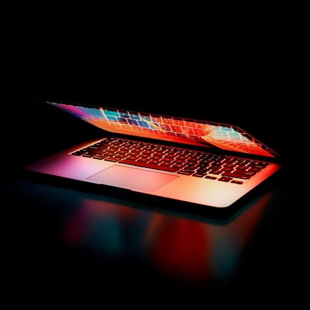 Semi closed laptop