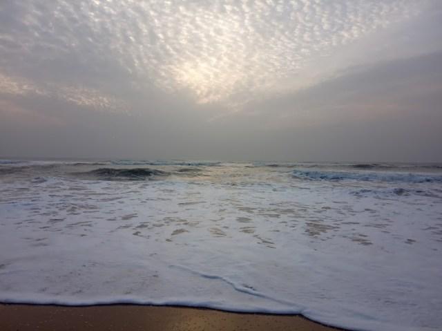 Sunrise on a sandy beach