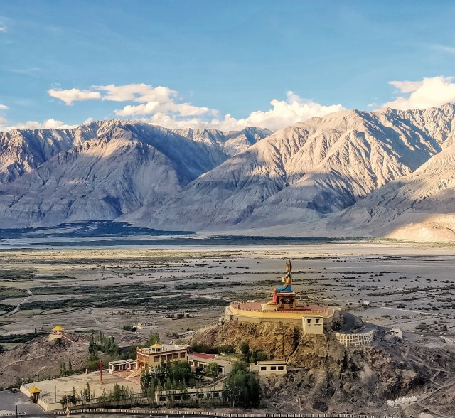 Temple in lap of Leh Mountains