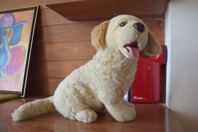 A toy dog for kids