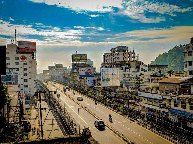 View of Guwahati city