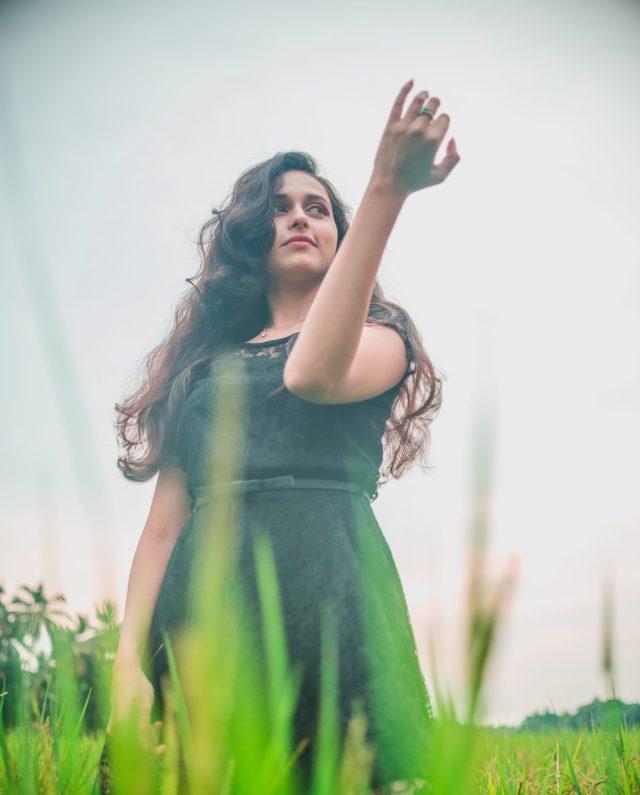 A girl posing