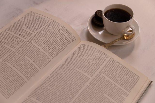 Book and tea