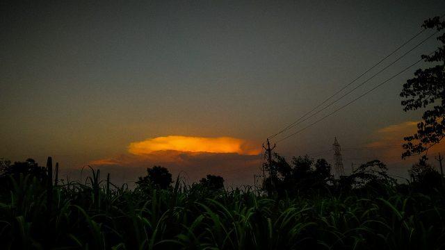 Darkness of evening