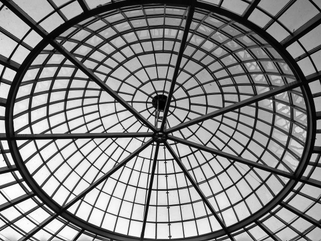 Interior of a dome roof