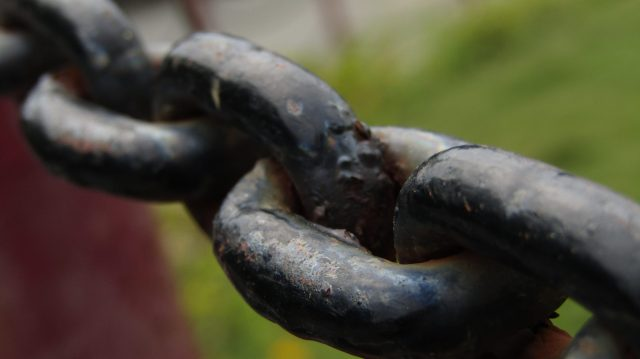Iron chain linked
