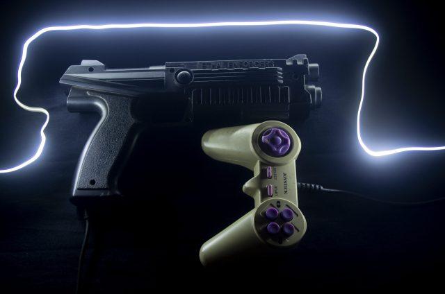 Joystick controller and gun