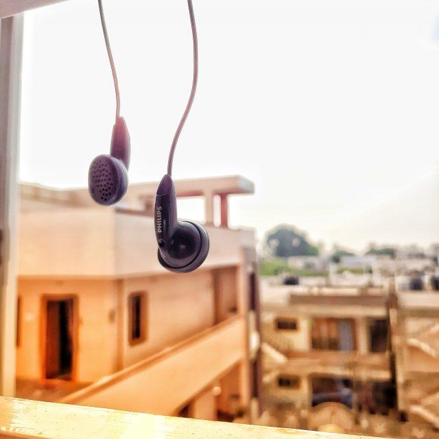 earphones hanging