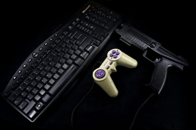 keyboard and videogame controller