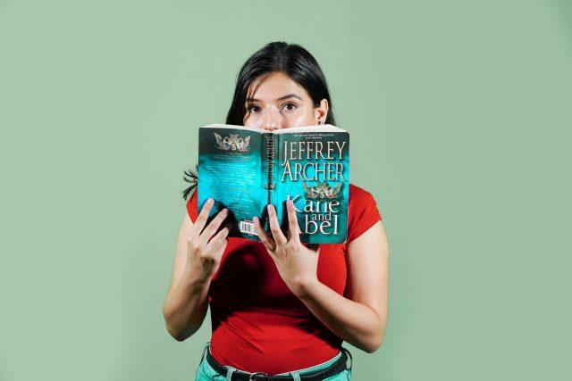 girl reading novel