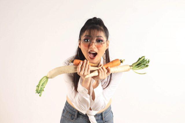 A vegan girl