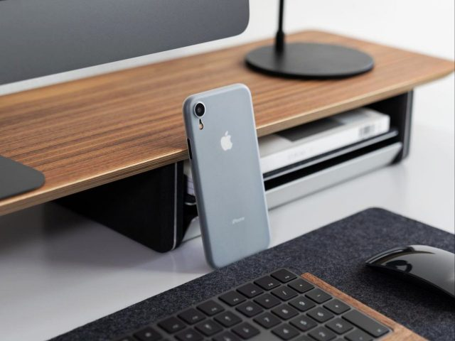 An iPhone on a table