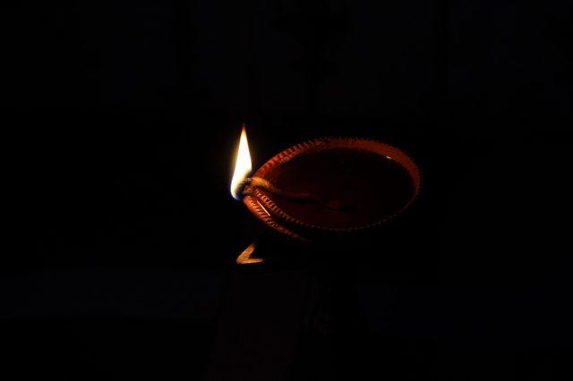An oil lamp