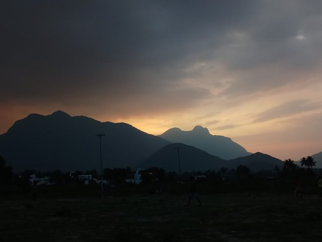 Mountains after sunset
