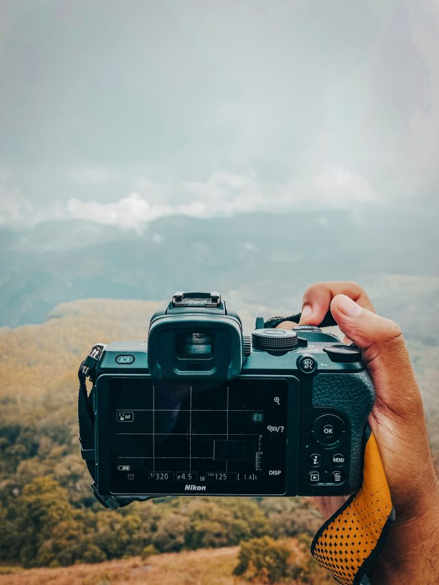 Shooting landscape with camera