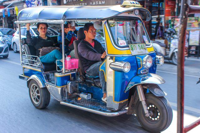 Traveling in three wheeler