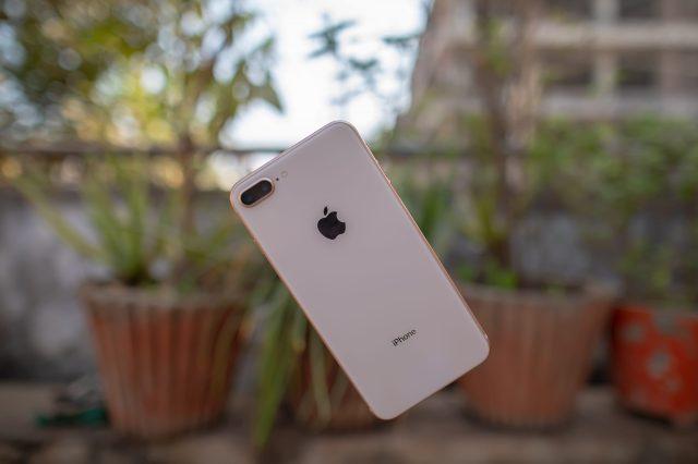An iPhone in air