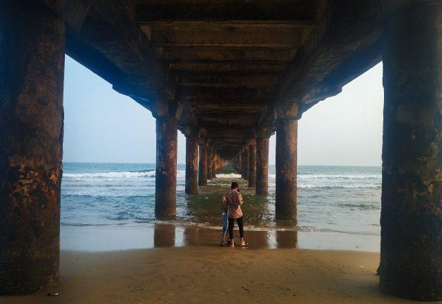 Boys at Divi's Beach in Visakhapatnam