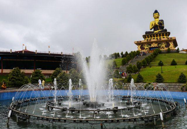 Buddha fountain and stadium