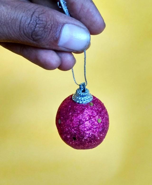 decorative ball in hand