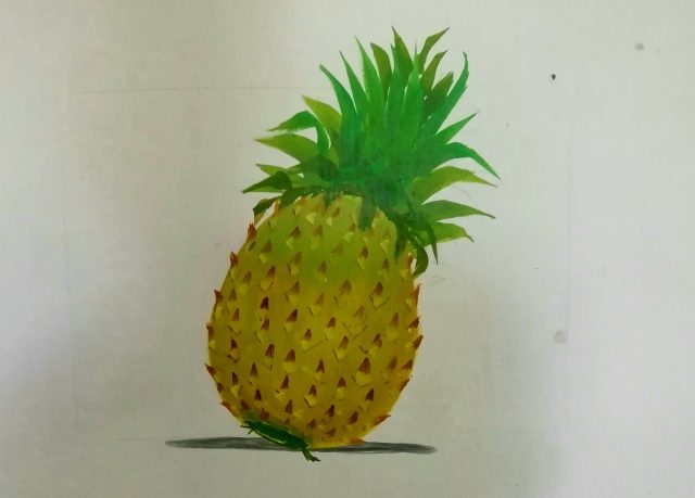 Pineapple wall painting