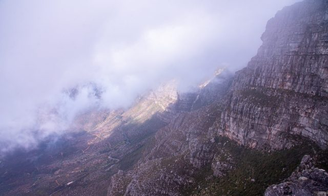 Foggy weather in mountains
