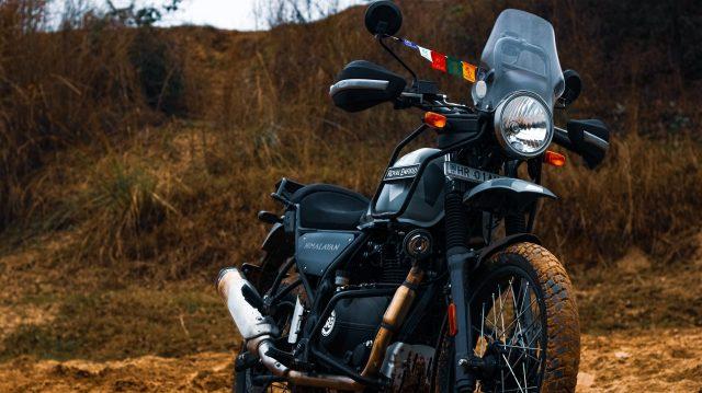 Himalayan bike in farm