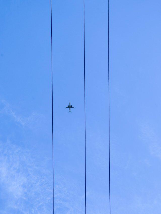 Air plane in a sky