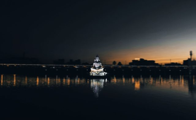 Lord Shiva Statue in the pond