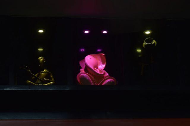 Shree Ganesha statue in dark