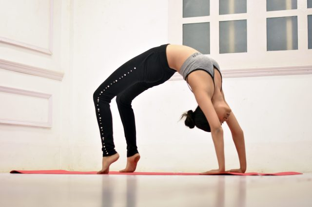 Chakrasana wheel pose yoga