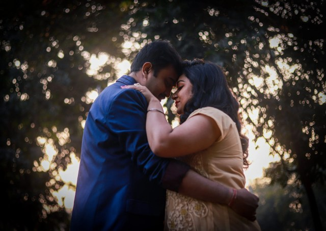 An Indian couple romance