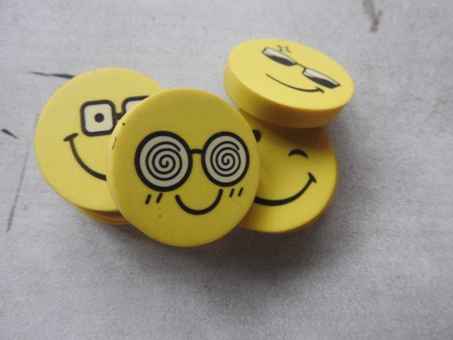 Emoji erasers