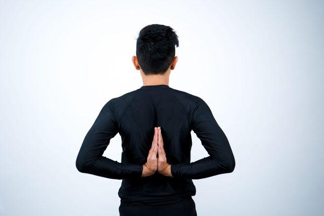 Viparita Namaskarasana (Reverse Prayer Pose)