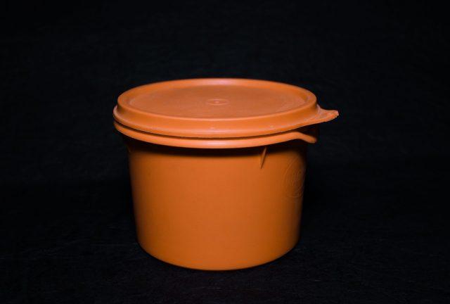 Orange plastic box