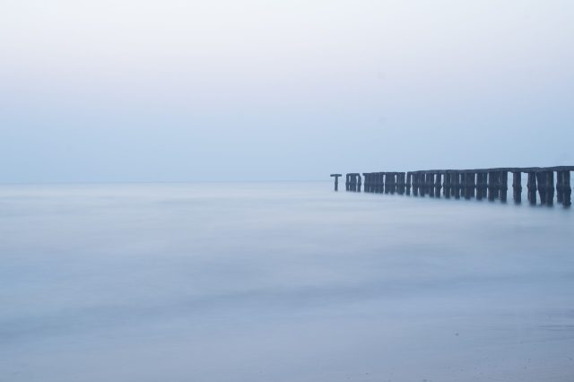 long exposure of sea