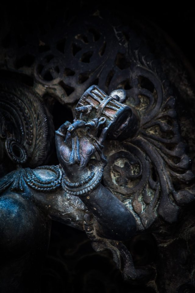 Ancient sculpture of Lord Shiva