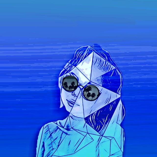 Animated girl face illustration