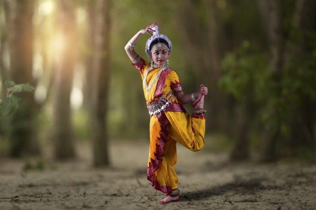 Little Bharatanatyam Dancer