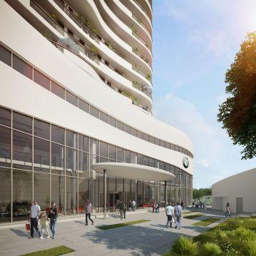 Perspective extérieure - PROJET TOUR DES GALETS - ARCHITECTE : HALIM FAIDI - STUDIO A