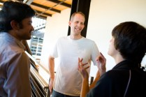 L - R: Me, Pete Docter, Martin of Upcoming Pixar. Ph: Brett Butterstein