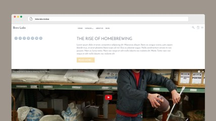 A shop and blog theme mockup