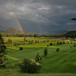 Double Rainbow over Chinook Cove Golf Course